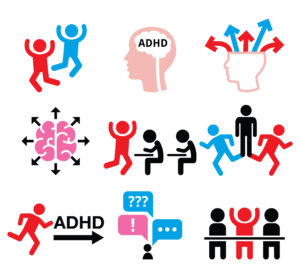 Icons related to ADHD