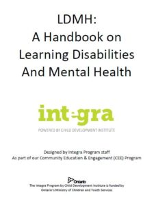 Front page of handbook on learning disabilities and mental health